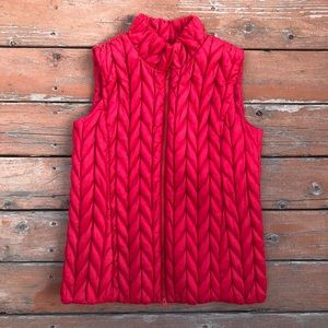 Coldwater Creek Red Quilted Puffer Vest jacket M